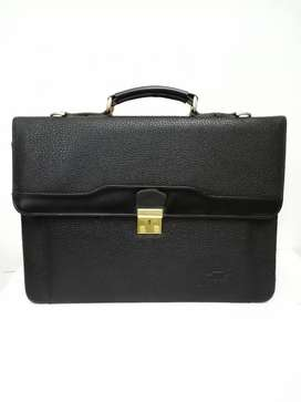 Leather Briefcase File Bags for laptop and documents imported mens bag