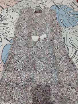 Dress batik asli jogja pangestu 4-5th