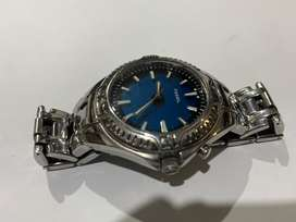 BEAUTIFUL Fossil Blue Two Color Changeing Dial Watch AM-3539S-100m