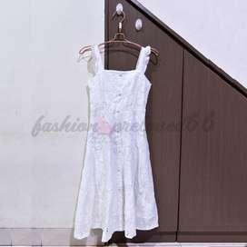 preloved white tanktop dress