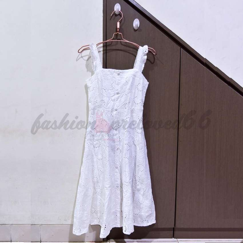 preloved white tanktop dress 0