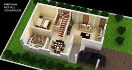 Newly built residential house for sale in palakkad town in 5 cent land