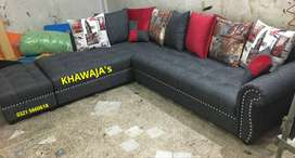Available in Different Color L shape sofa brand new ( khawaja's