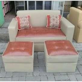 Sofa minimalis bahan oscar kulit sintetis