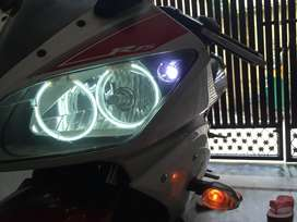 four angel linght installed in this bike KNN air filter is installed
