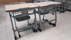 D6 Meja kursi bangku besi SD dan SMP, SMA