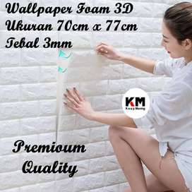 Walpaper dinding foam bata