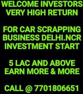 INVESTMENT IN SCRAP YARD IN DELHI. NCR