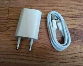 Charger + Kabel Data Original Lightining iPhone 7+ Bergaransi