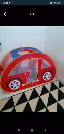 Tenda anak bentuk mobil-mobilan