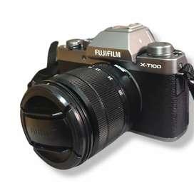 Mirrorless Fuji fujifilm XT100 mulus murah bs tt nikon canon leica