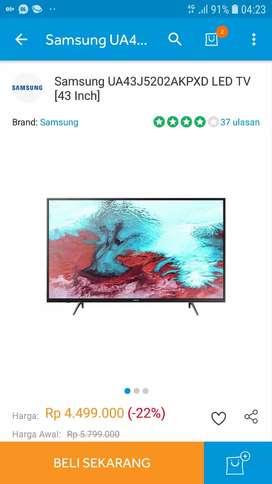 Samsung 43J5202 Smart LED TV-Black murah cuma 4,25juta
