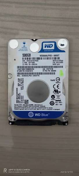 WD Hard drive 500 GB