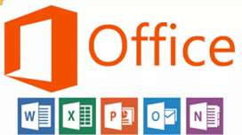 I am typest and work on ms office ms word so any one contact me.
