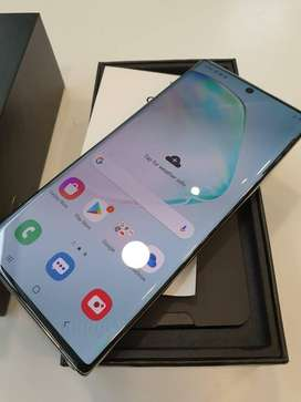 Samsung note 10 plus 12/256 new condition with bill full box  Cod avai