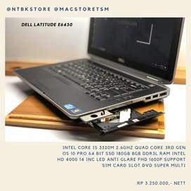 DELL LATITUDE E6430 core i5 3320M 2.6Ghz SSD 180GB 8GB RAM