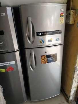 With 5 year warranty 250 liter double door fridge