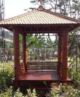 gazebo pilar bubut bambu