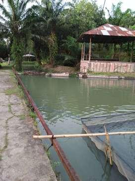 Dijual tanah & kolam pancing eks taman wisata