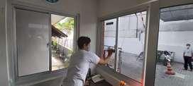 Pasang kaca film perumahan kacafilm kanopi jendela pintu di sukoharjo