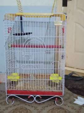 grey parrot cage