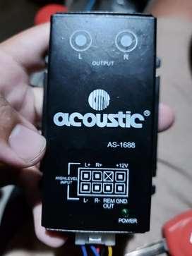 Audio adaptor hi low to rca acoustic