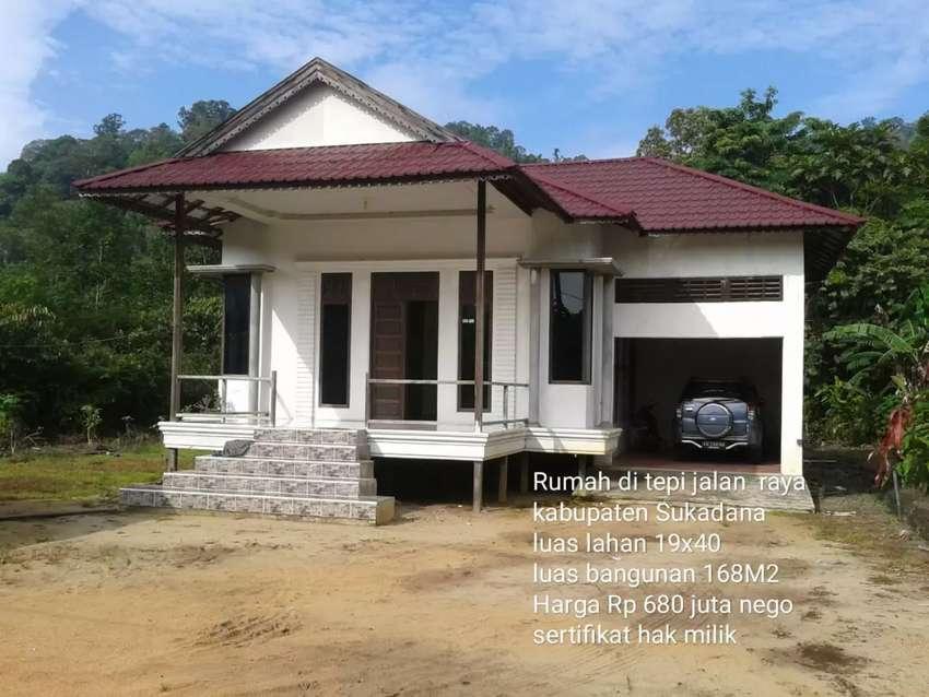 Rumah tipe 168 di tepi jalan raya Bhayangkara Sukadana 0