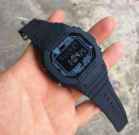 jam tangan g shock hitam metal rubber terbatas ya