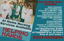 NURSES Male-Female Available for Patient Care Services At Your Home