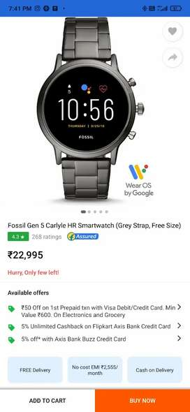 FOSSIL generation 5 smartwatch with call function
