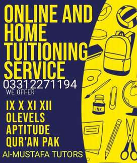 We are having Experienced Home & Online Tutors in all over Sialkot