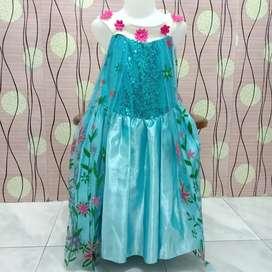 Preloved gaun anak madih like new 5-6 thn