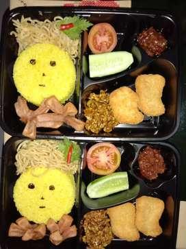 Djual nasi kuning bento home made