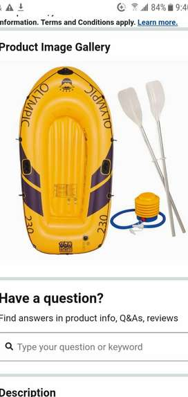 (No chat) Imported german inflatable boat (new), (Olympic 230)