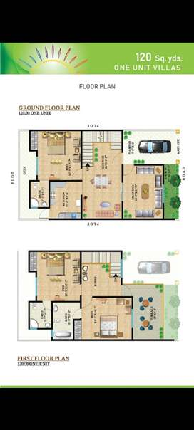 120 Yard Villas available on 18 monthly installments