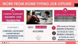 Pdf to Ms word typing Part Time Data Entry