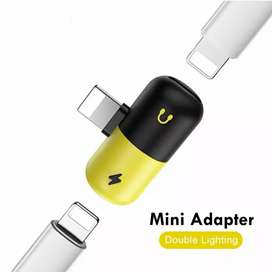 Adapter dual lightning charging&headphone for iphone