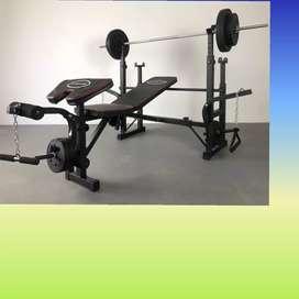 multi gym bench press id-775 beban 40kg home gym