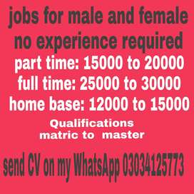 Jobs for male and femal