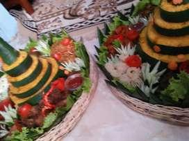 Nasi kotak nasi tumpeng snack kue orak arik telok