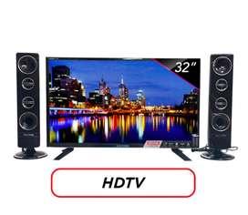 POLYTRON LED TV 32 Inch HD - PLD32T1550 [Speaker Tower]