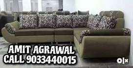 Gray L shape sofa set for best price