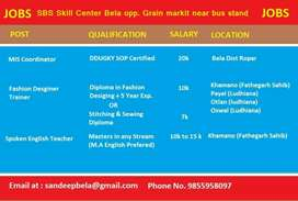 Jobs for skill industry