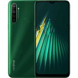 Realme 5i in Green colour(4/64).1Mobile Phone 1Charger and 1Box.
