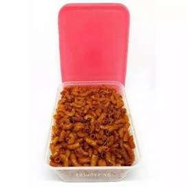 Cemilan macaroni spiral kemasan BOX