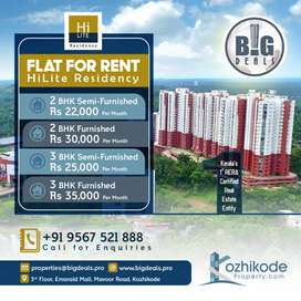 2 and 3 Bedroom Flats for rent at Hilite Residency
