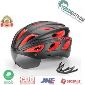 Rockbros TT-16-CP Helm Sepeda Cycling Bike Helmet + Visor