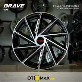 Velg Mobil Brave G135 Ring 15 Black Full Polish