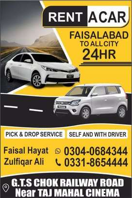 Rent a car faisalabad