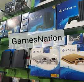 Ps4 console 500gb with one controller and all the cables everything